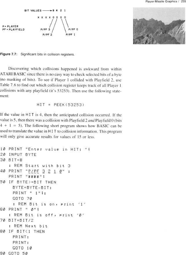 computer animation primer figure 7 7, significant bits in collision