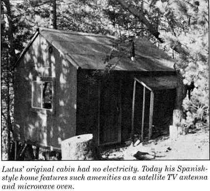 Lutus' original cabin